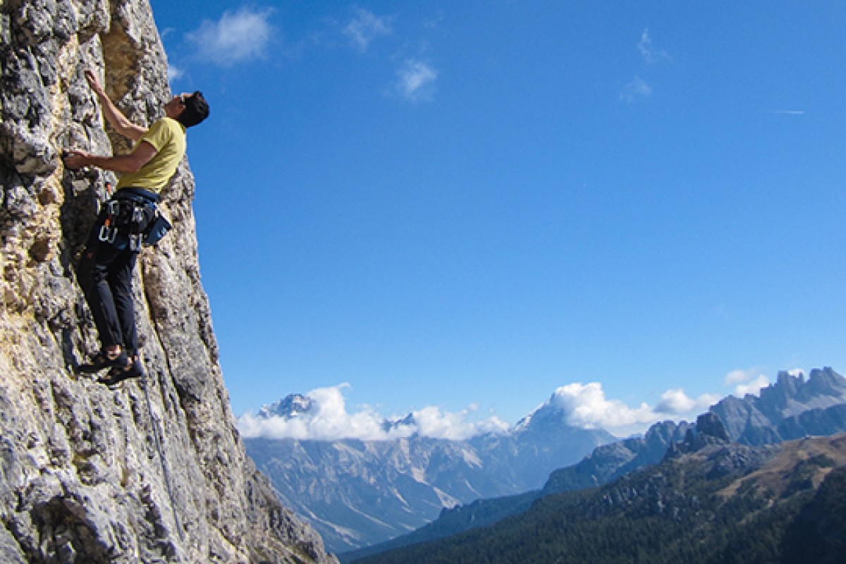 Rock climbing villa belvedere for Best view of dolomites